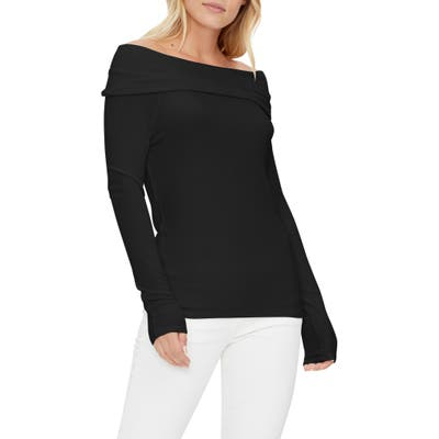 Michael Stars Elaine Convertible Off The Shoulder Top, Size One Size - Black