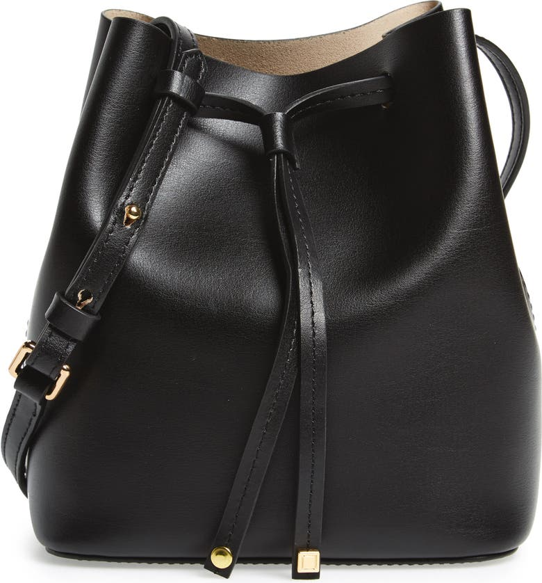 LODIS LOS ANGELES LODIS Small Silicon Valley Blake RFID Leather Bucket Bag, Main, color, 001