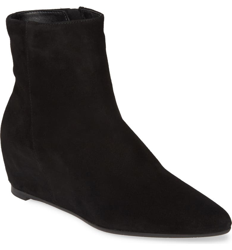 AQUATALIA Palmer Wedge Bootie, Main, color, BLACK SUEDE