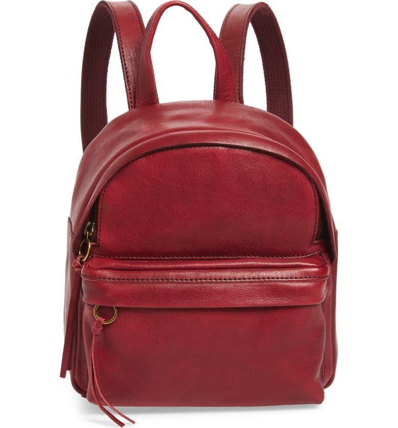 MADEWELL Mini Lorimer Leather Backpack, Main, color, 930