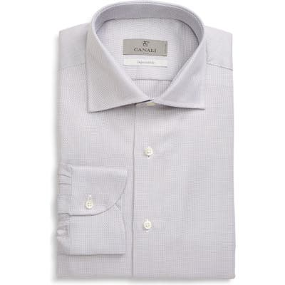 Canali Impeccabile Regular Fit Print Dress Shirt, Beige