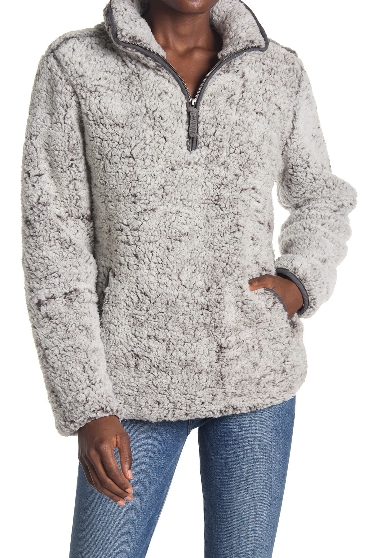 Image of THREAD AND SUPPLY Seven Wonders Fleece Quarter Zip Pullover