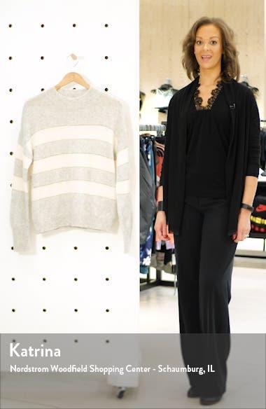 Ellise Metallic Detail Stripe Cashmere & Silk Mock Neck Sweater, sales video thumbnail