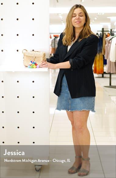 Emma Pompom Woven Crossbody Bag, sales video thumbnail