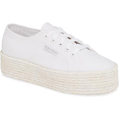 Superga Cotcoloropew Espadrille Sneaker - White