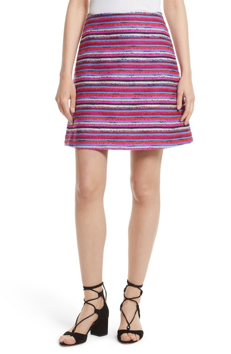 KATE SPADE NEW YORK stripe a-line skirt, Main, color, 930