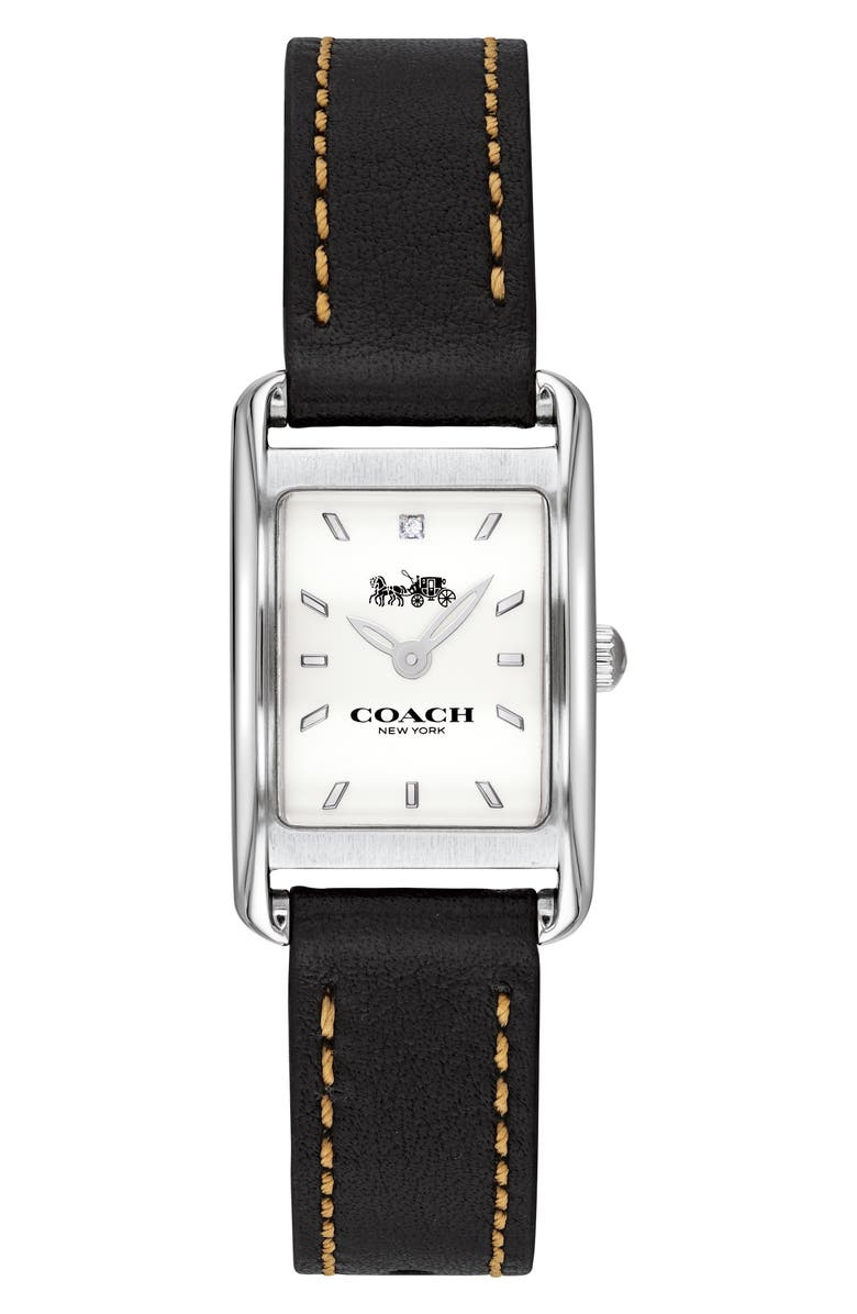 COACH Allie Leather Strap Watch 22mm