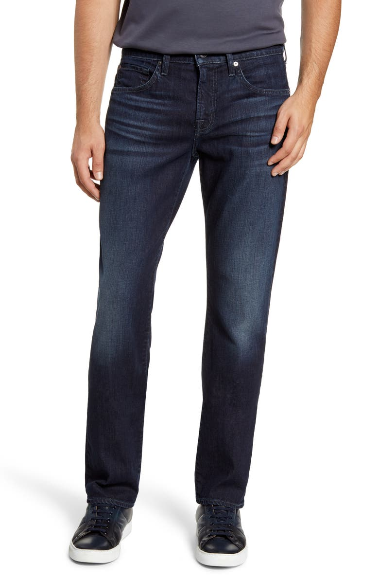 7 FOR ALL MANKIND<SUP>®</SUP> The Straight Slim Straight Leg Jeans, Main, color, BAKER