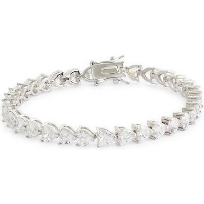 Nina Heart Shaped Cubic Zirconia Link Bracelet