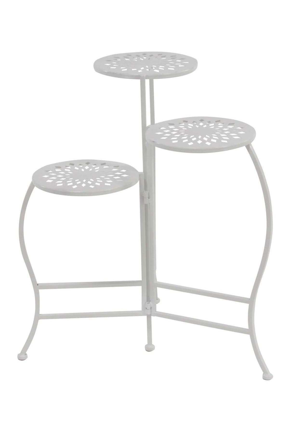 Image of Willow Row White Folding Plant Stand