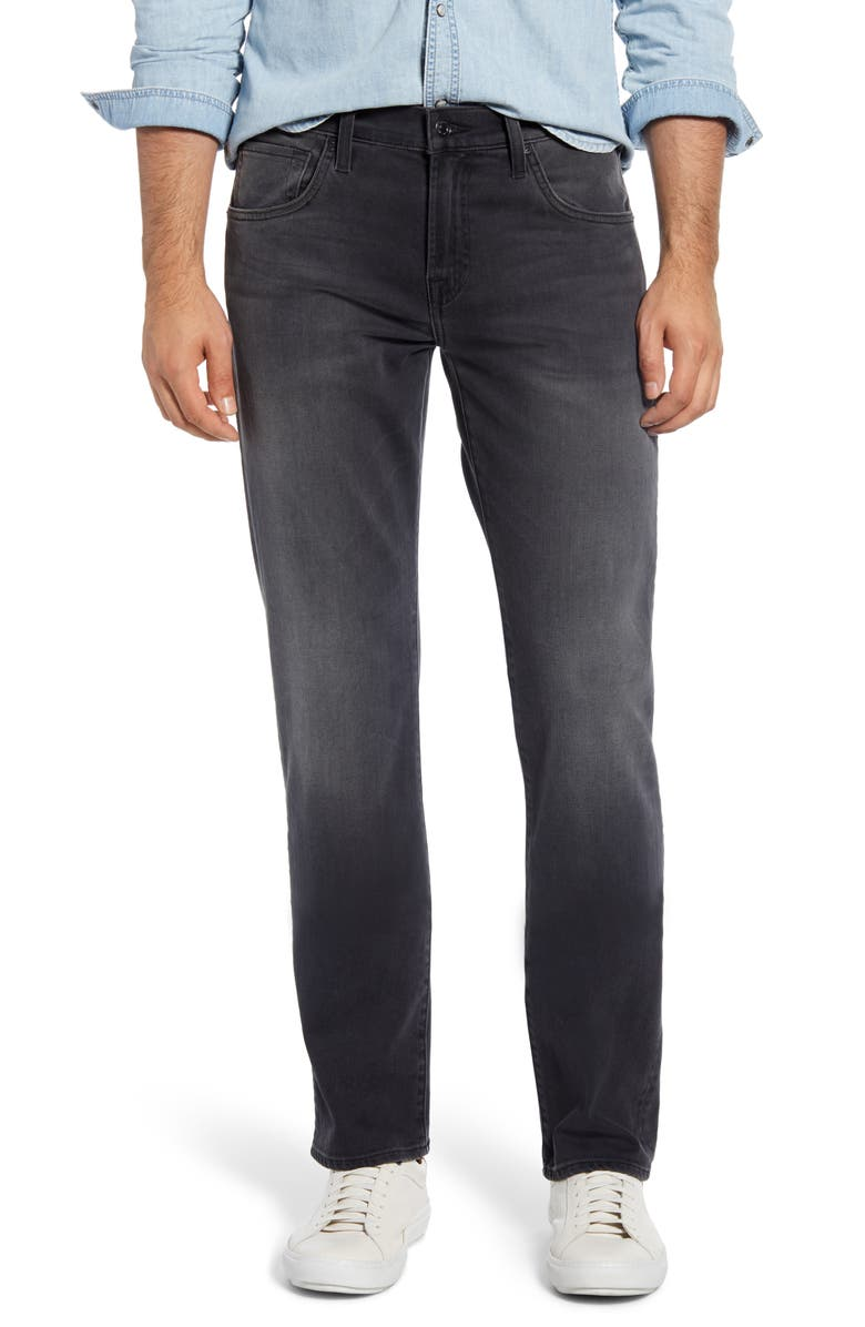 7 FOR ALL MANKIND<SUP>®</SUP> The Straight Slim Straight Leg Jeans, Main, color, MYSTIQUE