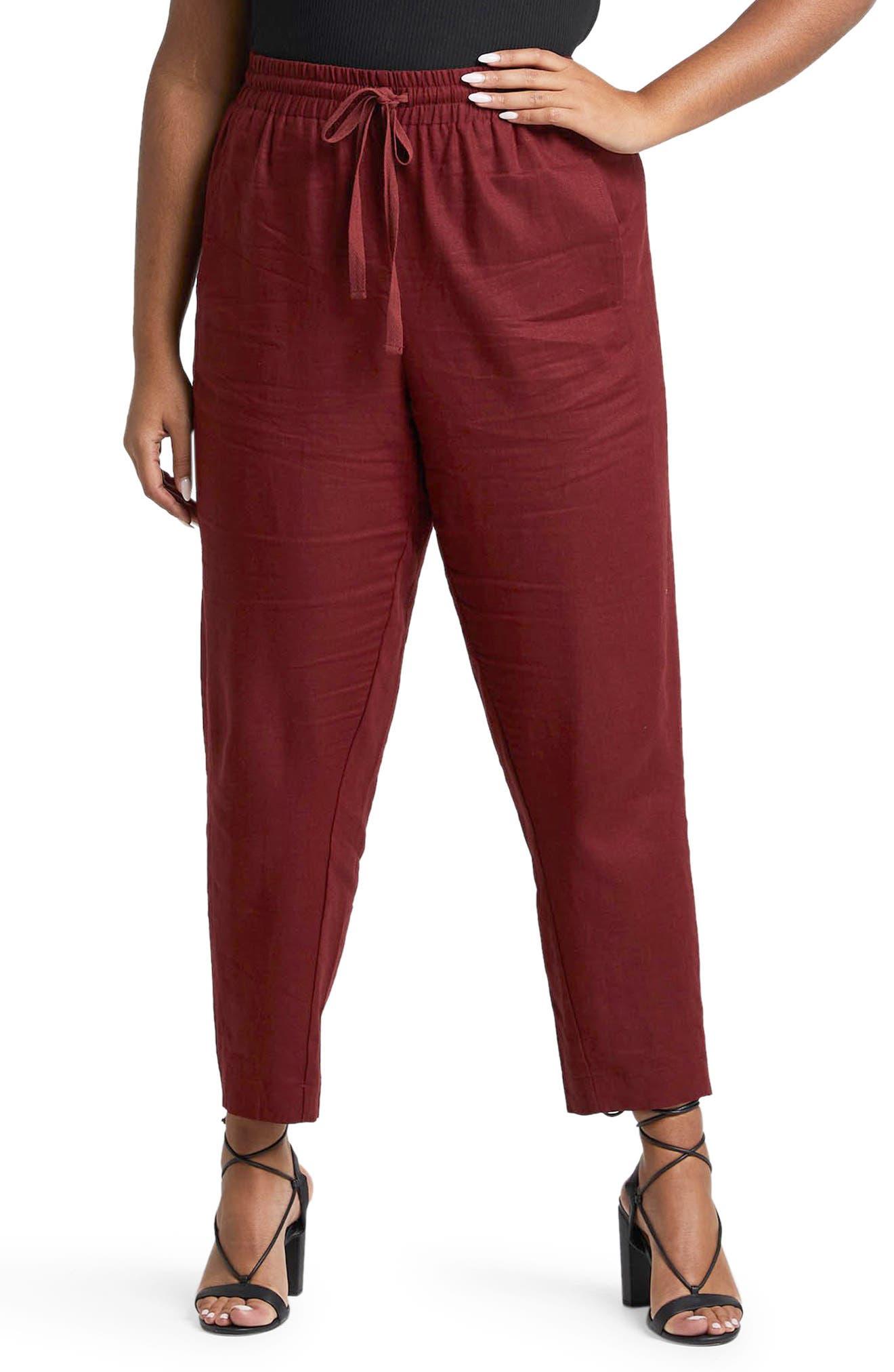 Bailey Linen Blend Drawstring Pants