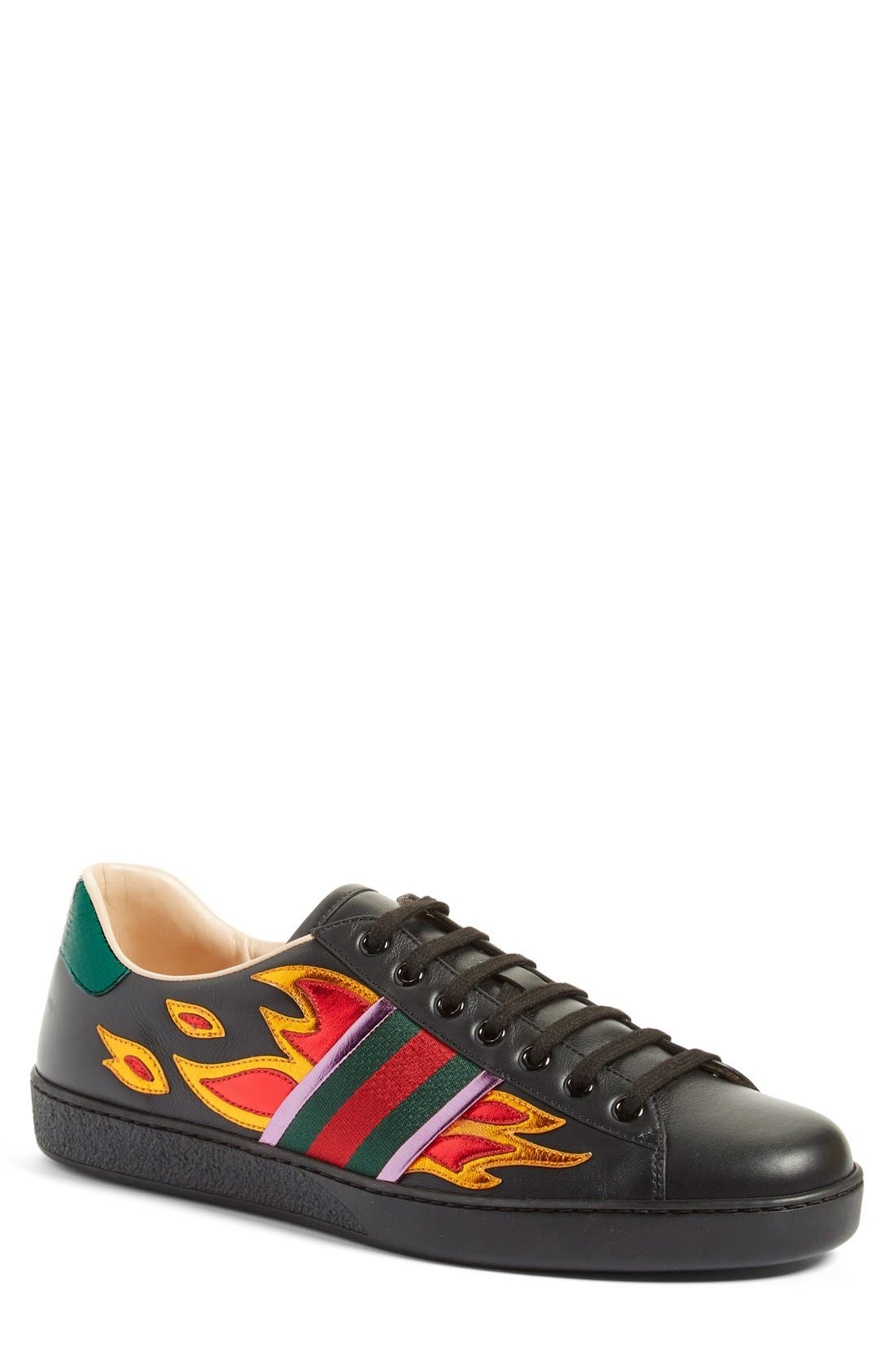 Gucci 'New Ace Flames' Sneaker with
