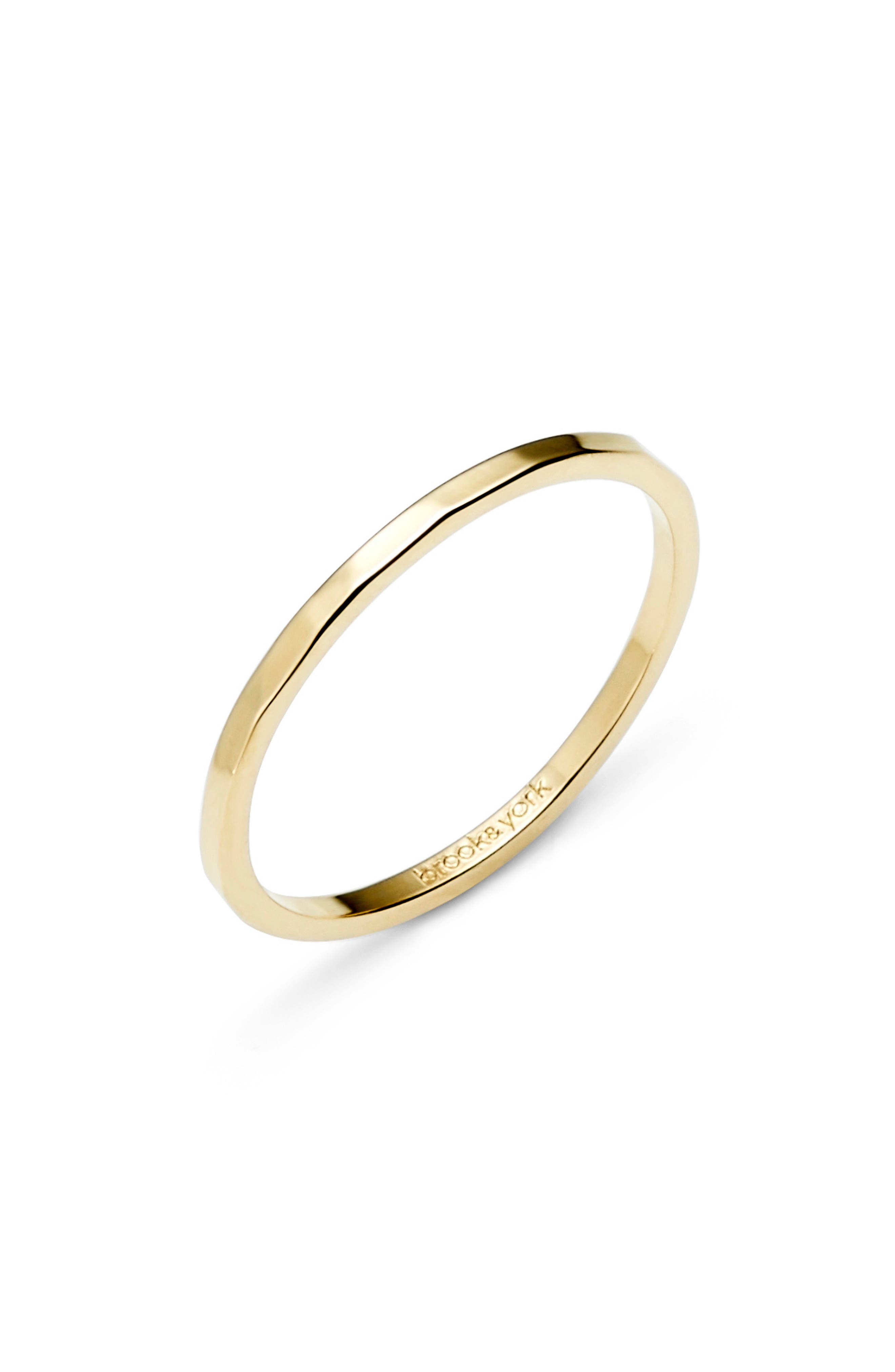 Maren Extra Thin Hammered Stacking Ring
