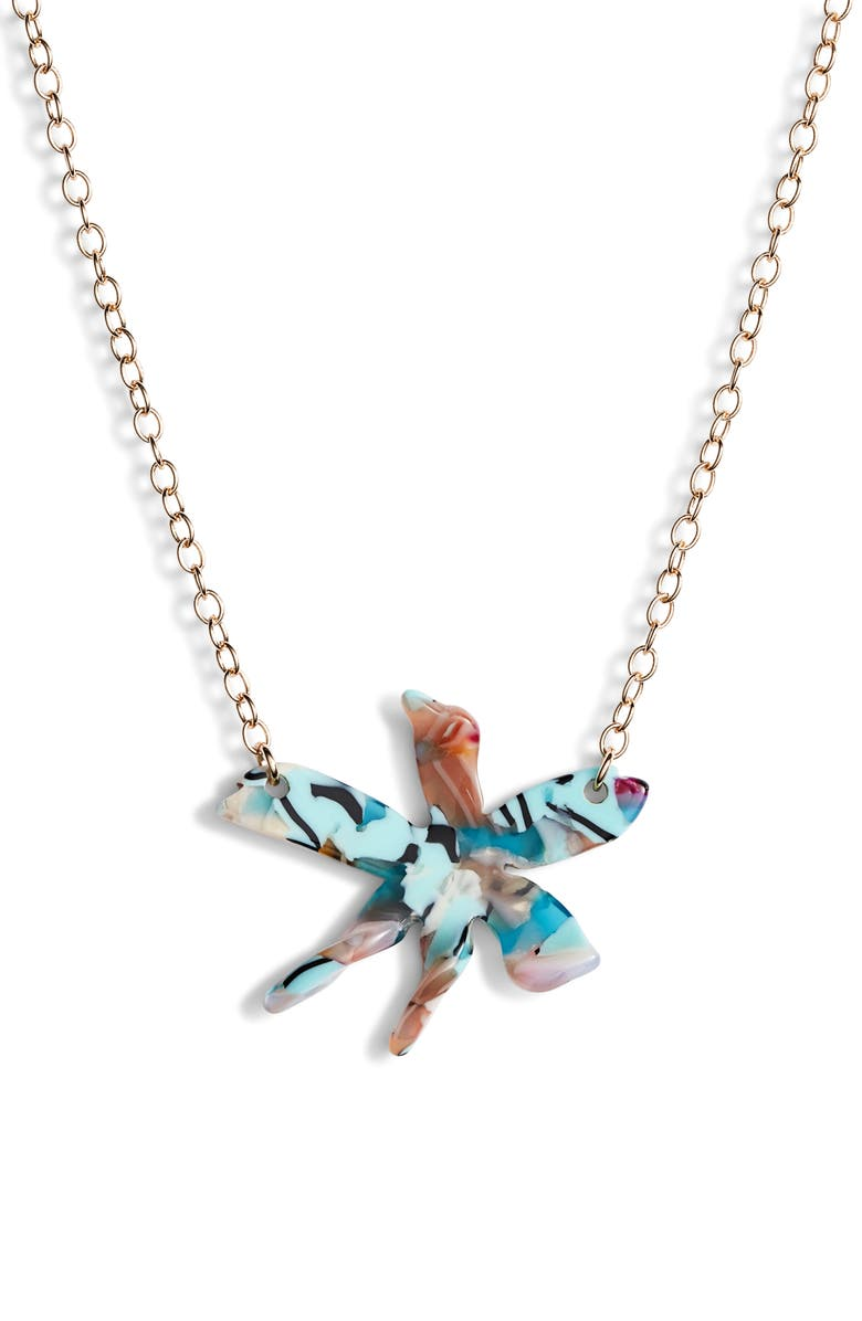 Lele Sadoughi Water Lily Pendant Necklace Exclusive