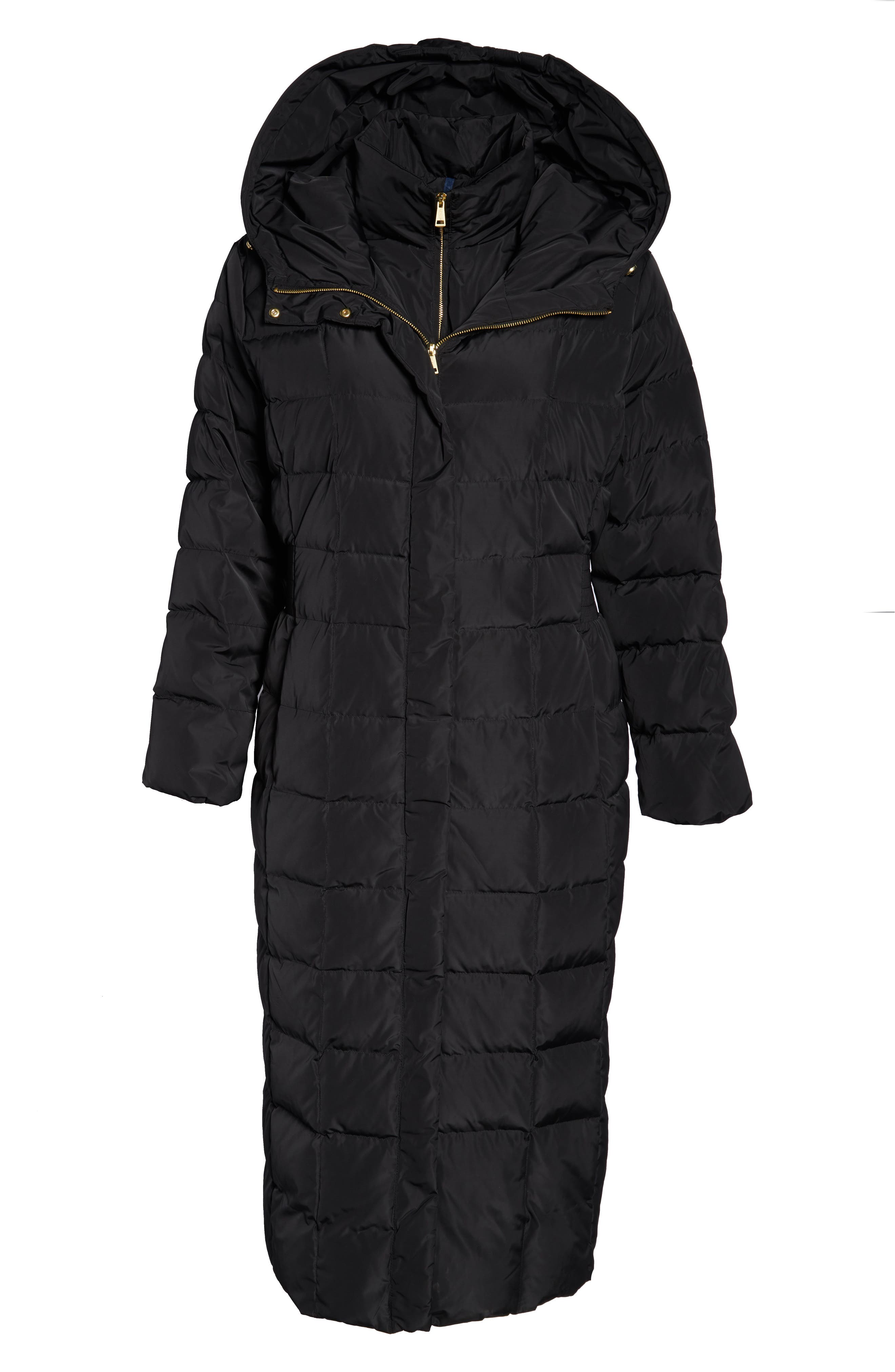 ,                             Quilted Coat with Inner Bib,                             Alternate thumbnail 7, color,                             001