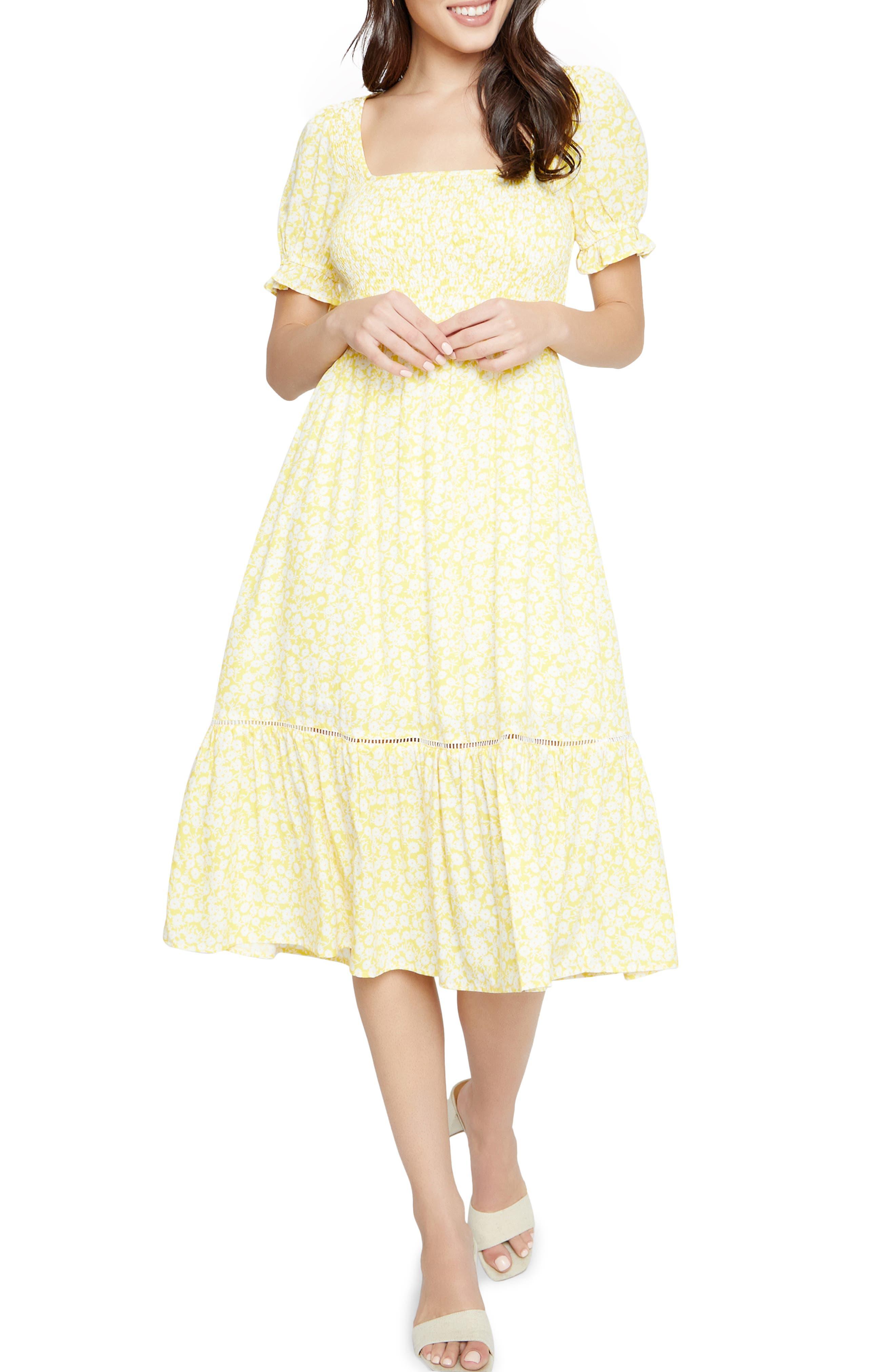 Women's Lost + Wander Sweet Summer Daze Smocked Midi Dress