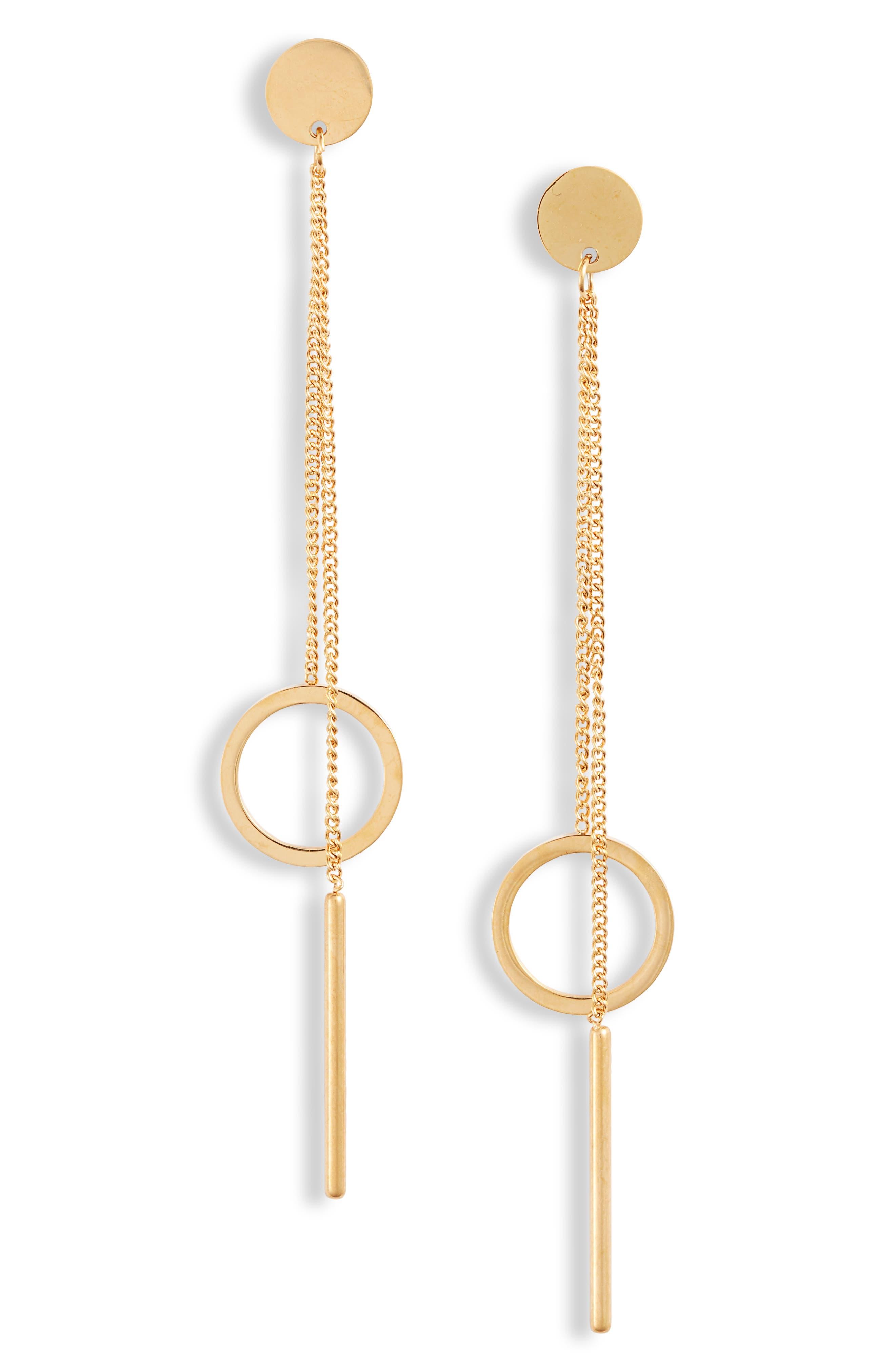 Hoop Chain Drop Earrings