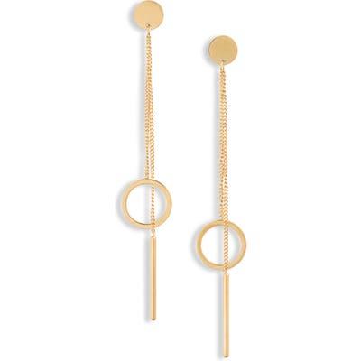 Knotty Hoop Chain Drop Earrings