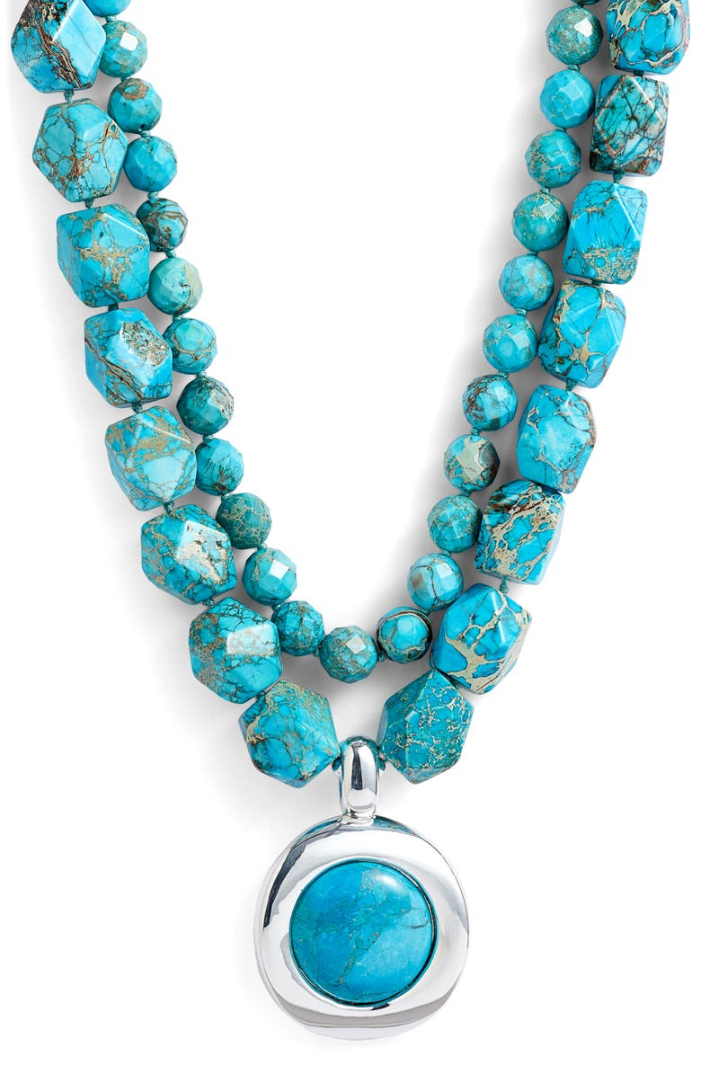 Simon Sebbag Double Strand Stone Pendant Necklace   Nordstrom
