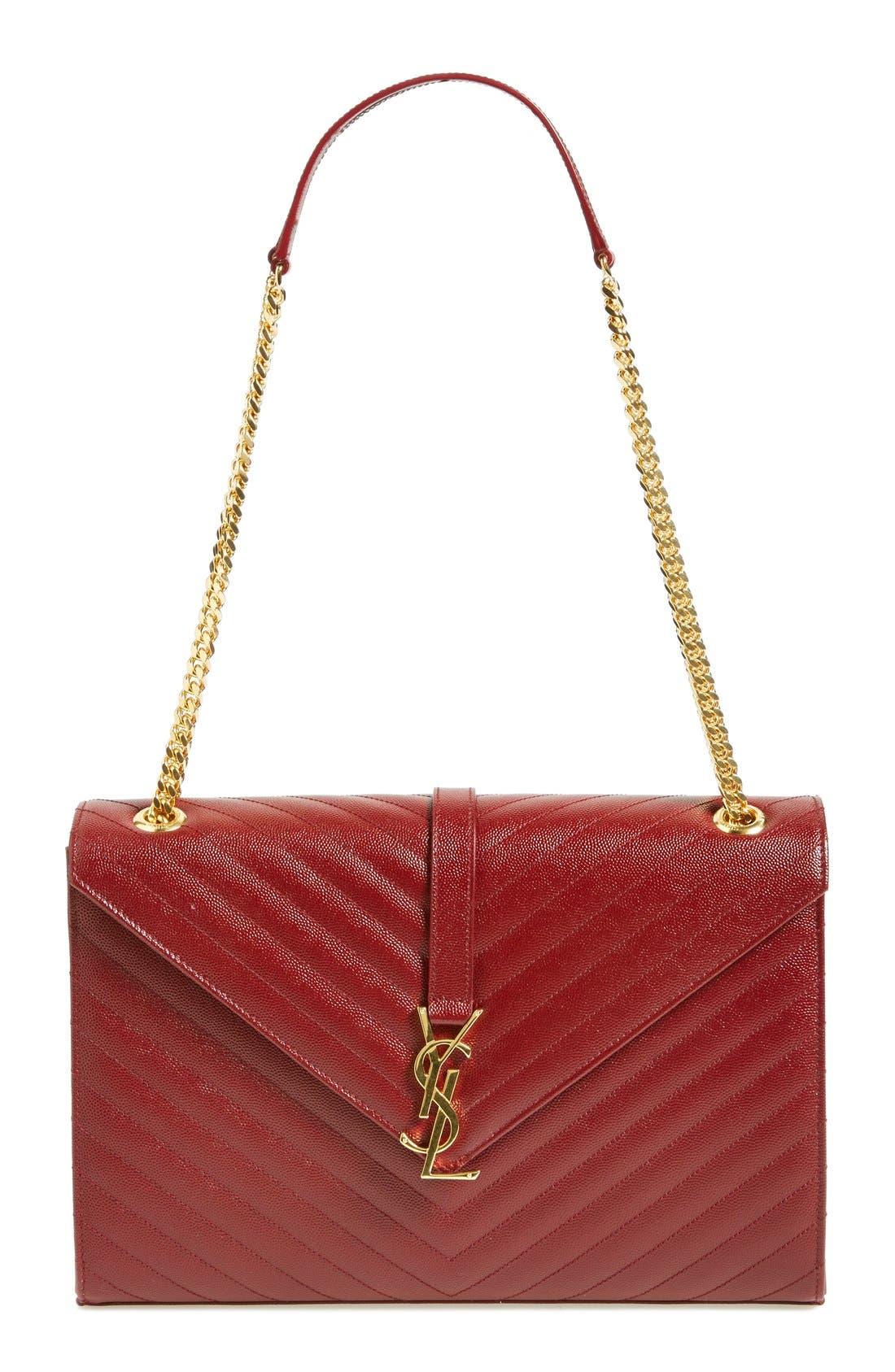 ,                             'Large Monogram' Grained Leather Shoulder Bag,                             Main thumbnail 51, color,                             930