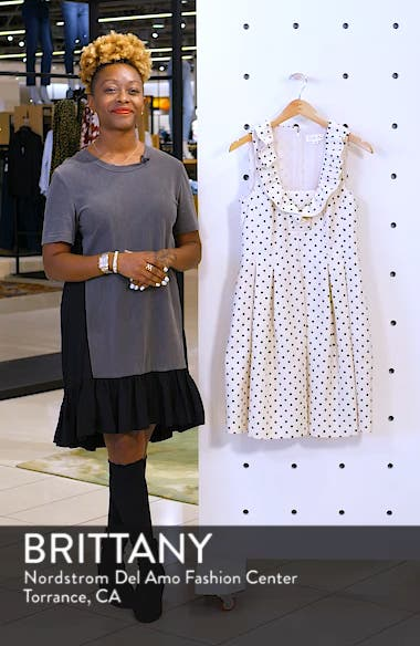 Metallic Polka Dot Fit & Flare Dress, sales video thumbnail
