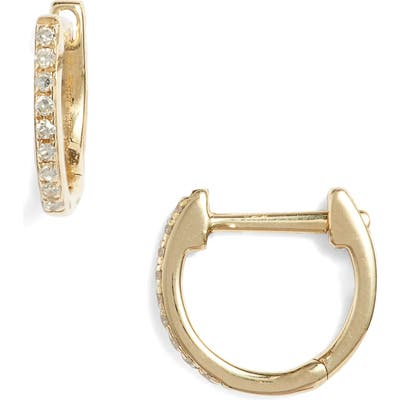 Ef Collection Mini Diamond Hoop Earrings