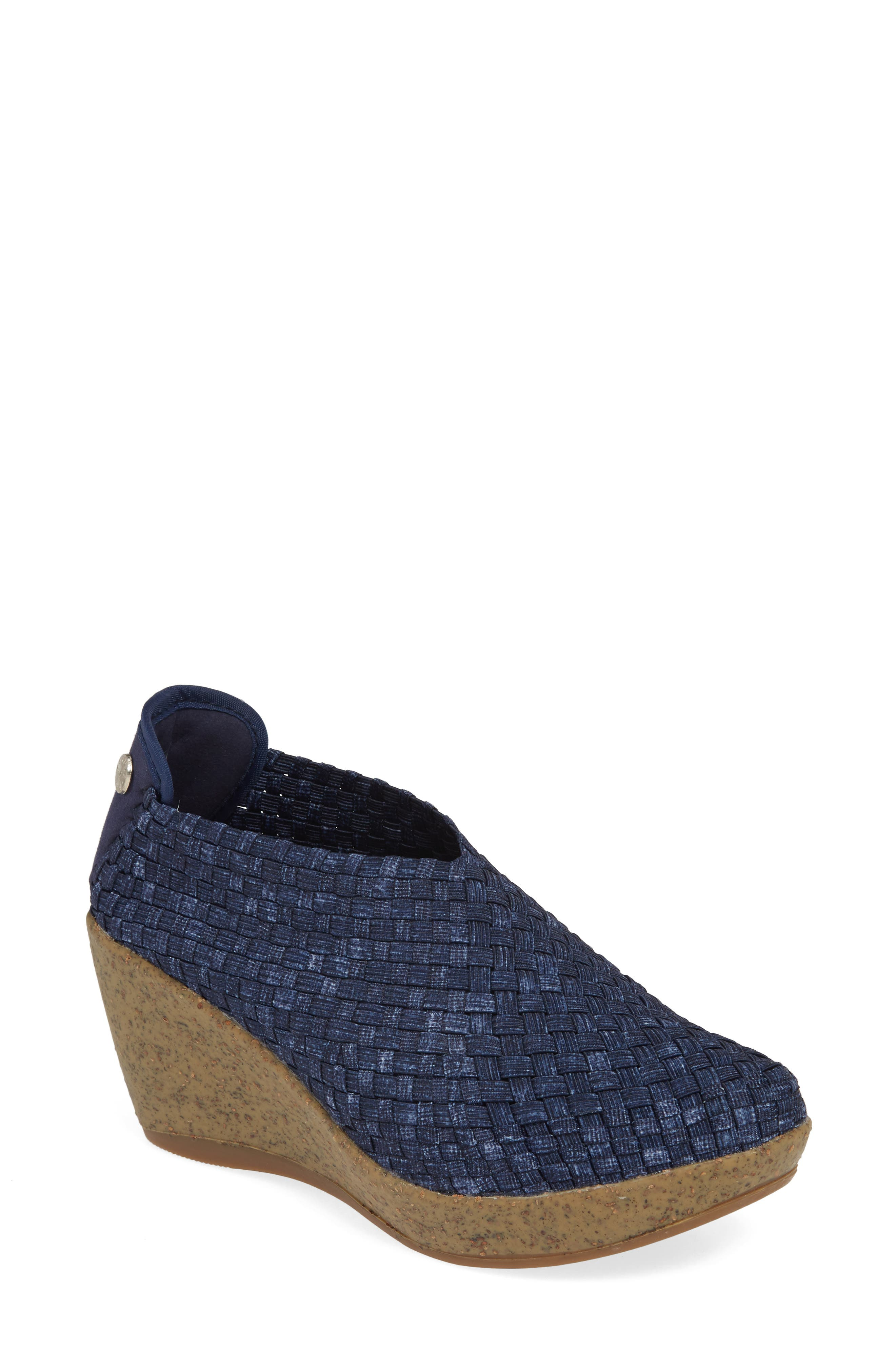 Basket-weave elastic perfects the custom, comfy fit of a lightweight, rubber-cork wedge. Style Name: Bernie Mev. Woven Wedge. Style Number: 993170. Available in stores.