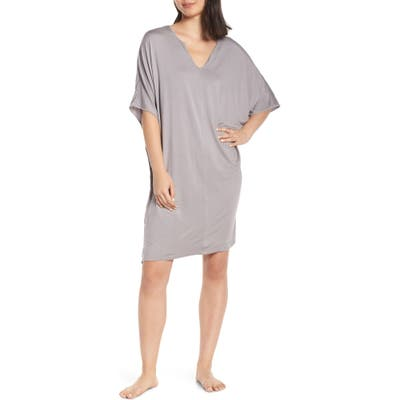 Barefoot Dreams Luxe Jersey Nightgown, Size One Size - Grey