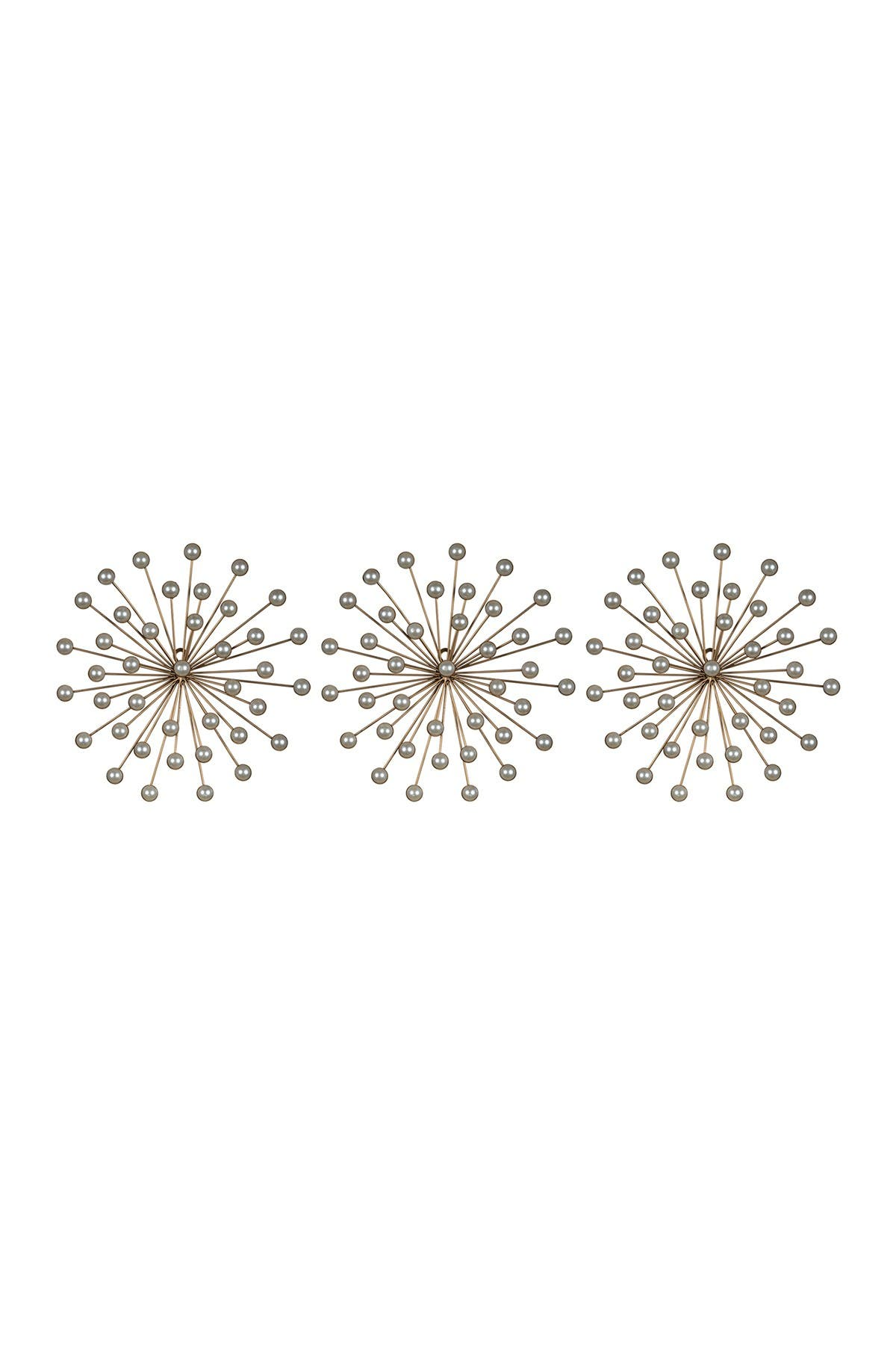 Image of Stratton Home Decor Pearl Bursts Wall Decor - Set of 3