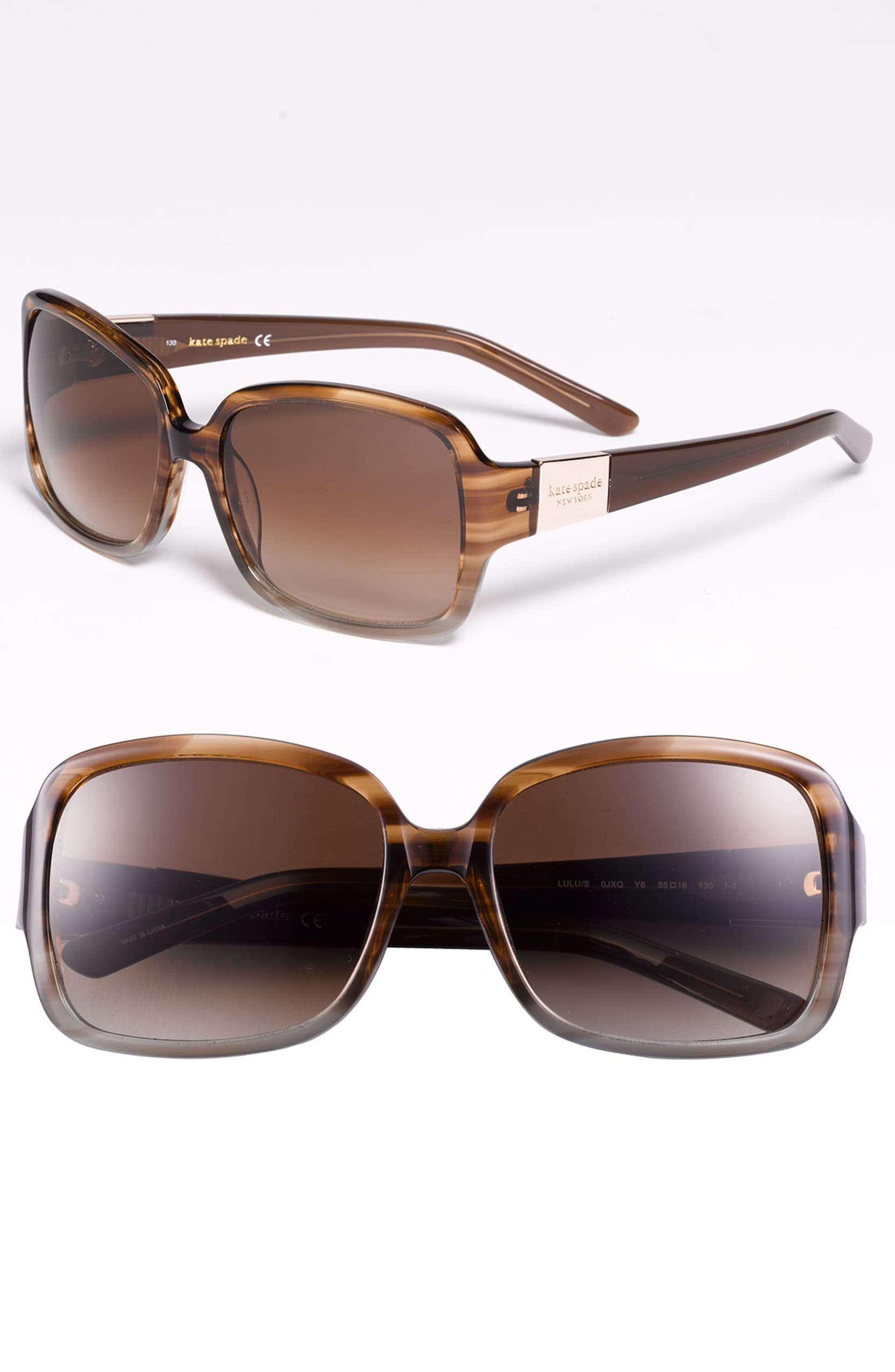 e62427769dae kate spade new york 'lulu' 55mm rectangular sunglasses | Nordstrom