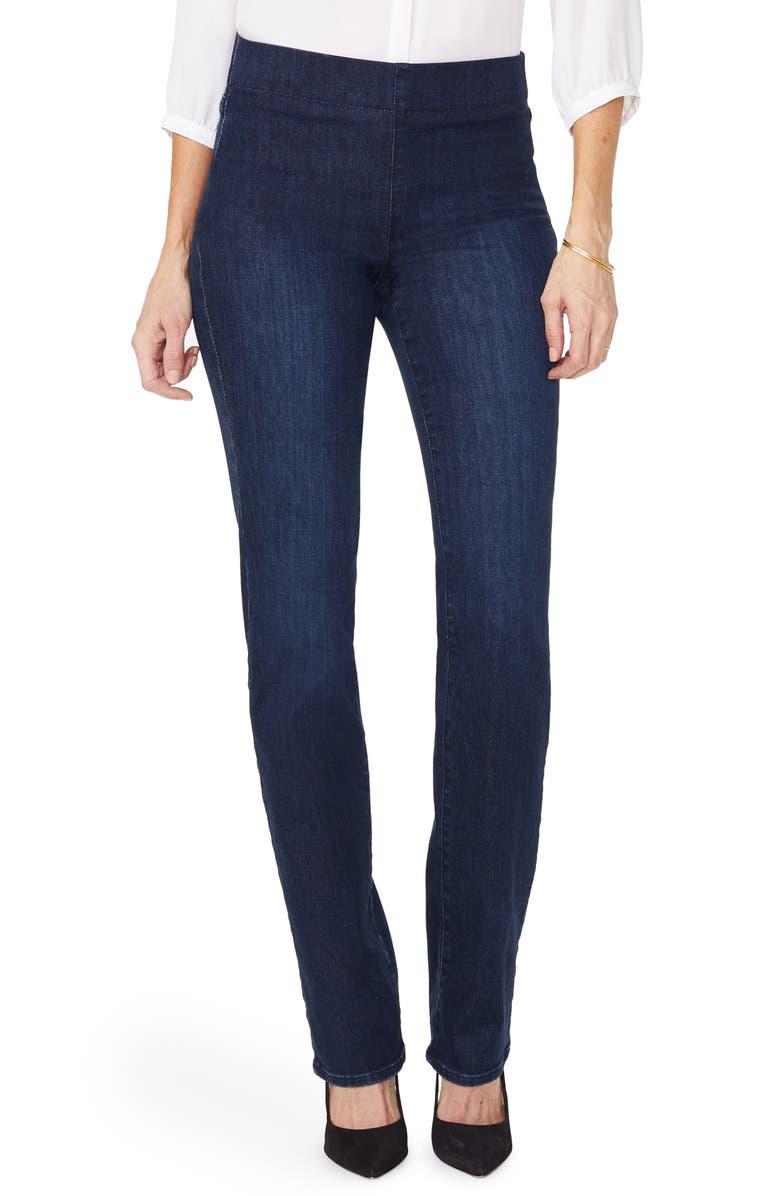 NYDJ Marilyn Straight Leg Ponte Pants, Main, color, CLEAN DENSLOWE