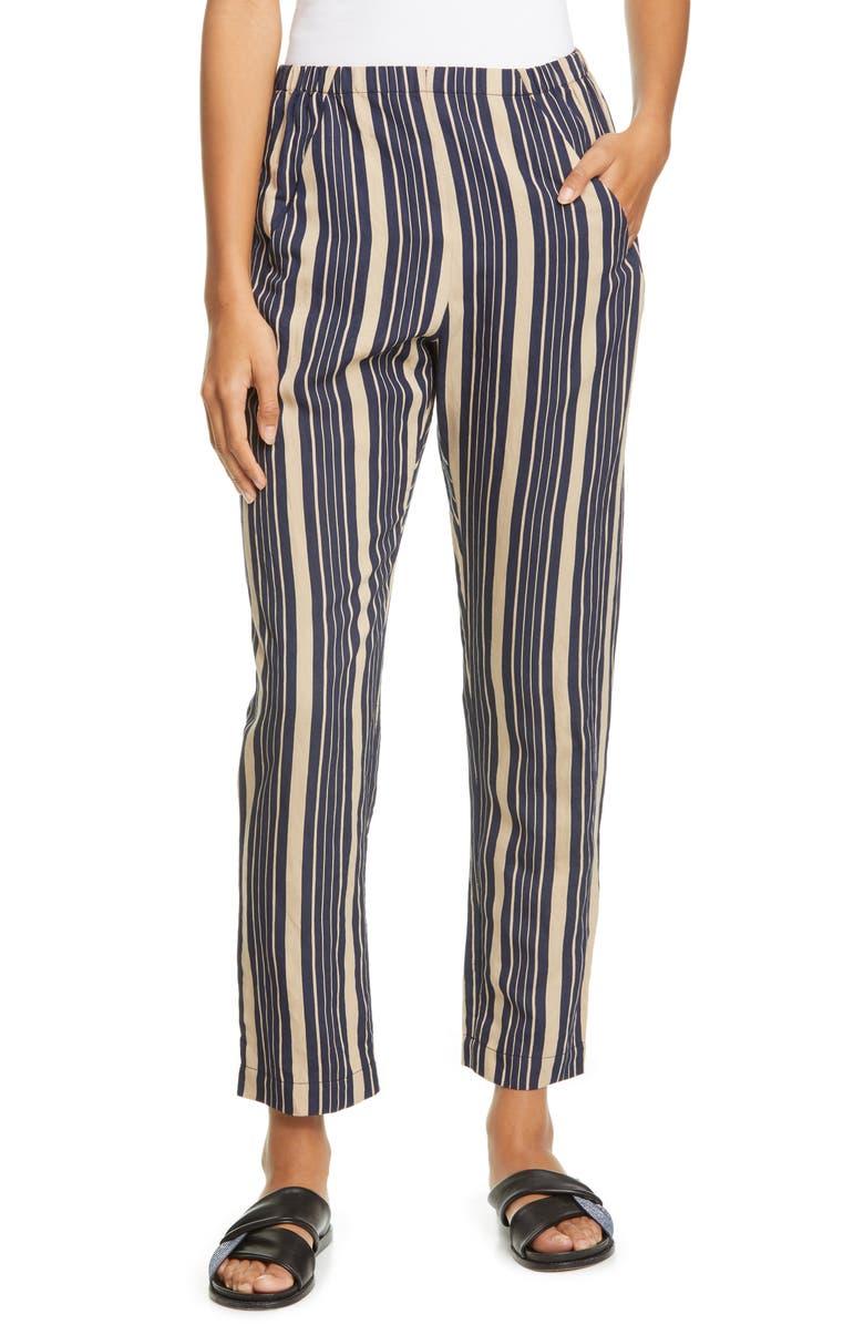 ZERO + MARIA CORNEJO Tabi Stripe Pull On Crop Pants, Main, color, 250