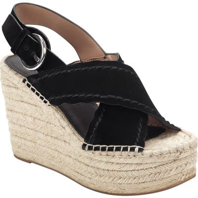 Marc Fisher Ltd Aria Espadrille Slingback Sandal- Black