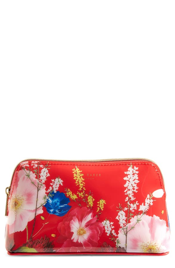 finest selection f8f6e 21f62 Berry Sundae Floral Cosmetics Case in Red