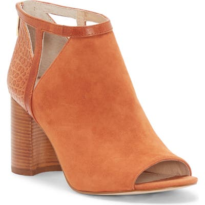 Louise Et Cie Kelton Open Toe Bootie, Brown