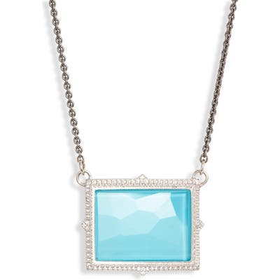 Armenta New World Rectangle Pendant Necklace
