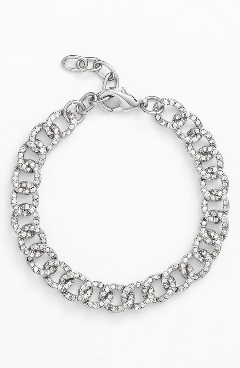 NORDSTROM Pavé Link Bracelet, Main, color, 040