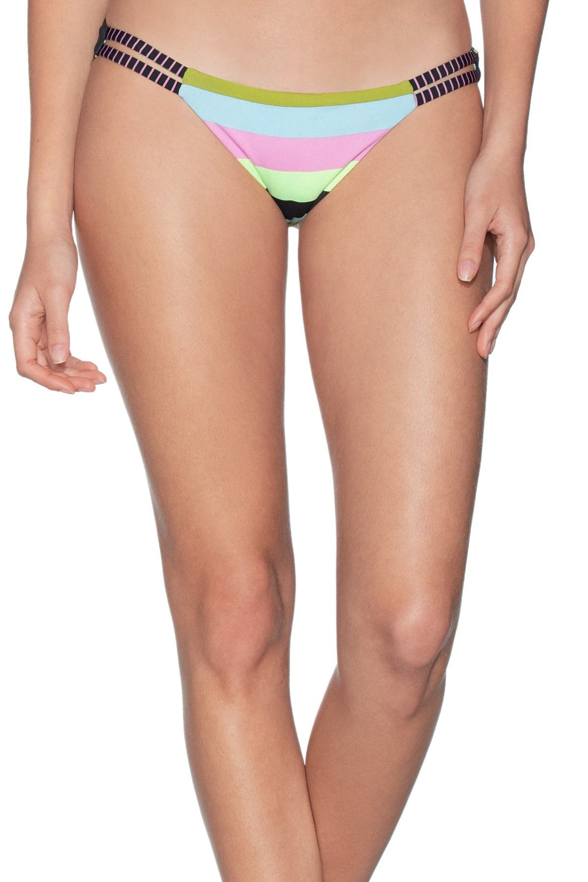 Image of Maaji Trippin Split Side Stripe Bikini Bottoms
