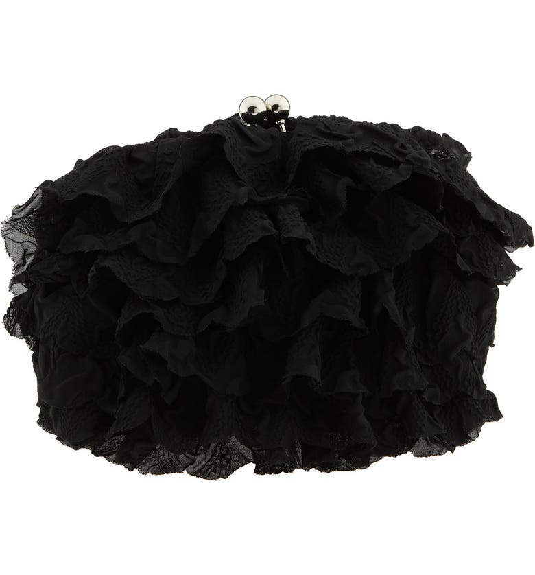 BETSEY JOHNSON 'Betsey's Night Out' Frame Clutch, Main, color, 001