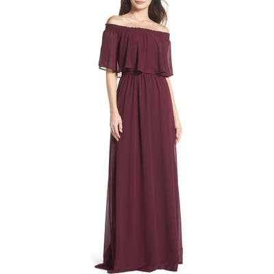 Show Me Your Mumu Hacienda Convertible Gown, Burgundy