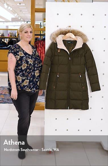 Quilted Faux Fur Trim Parka, sales video thumbnail