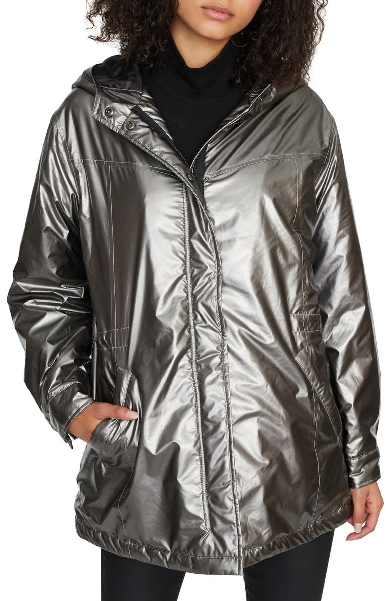 SANCTUARY Street Style Jacket, Main, color, SILVER