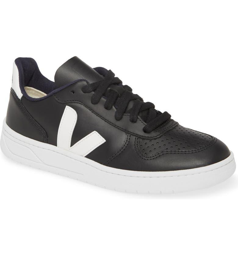 VEJA V-10 Sneaker, Main, color, BLACK/ WHITE/ WHITE SOLE