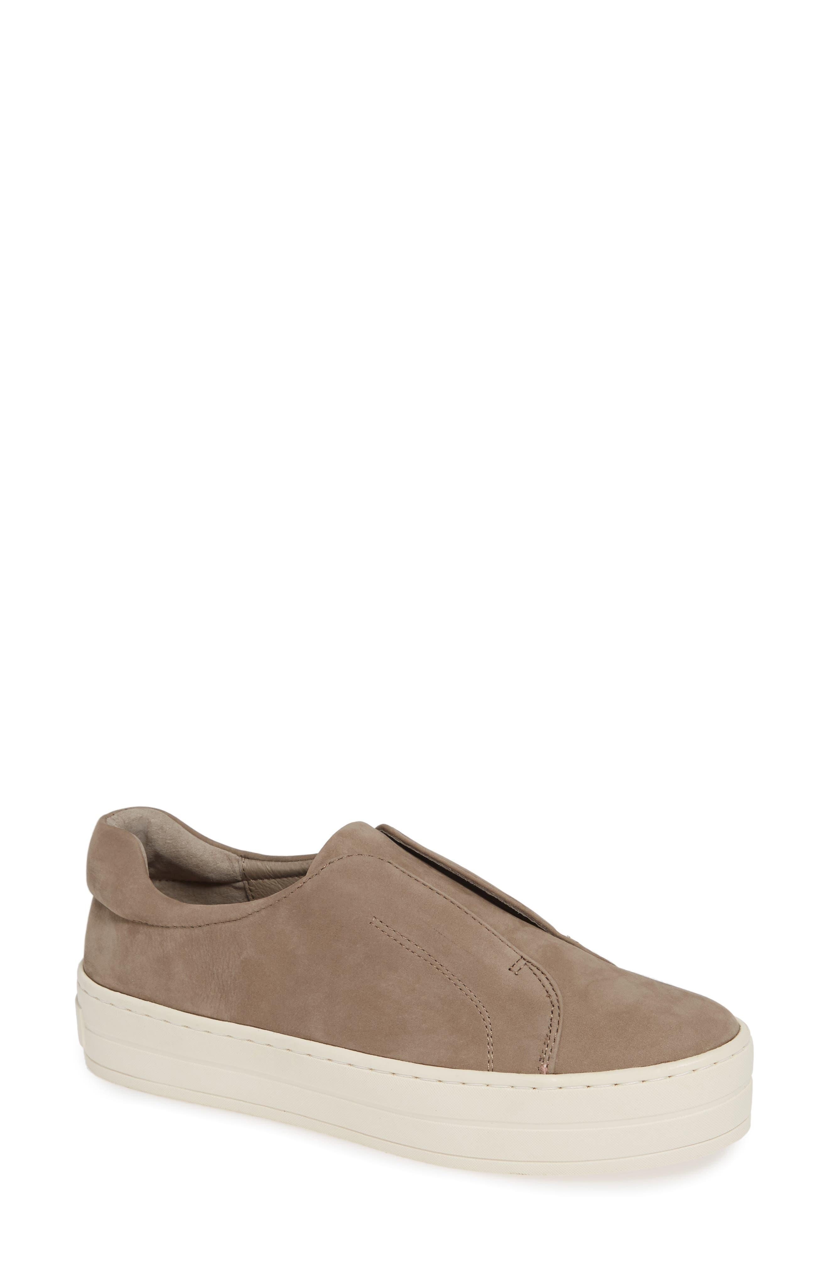 Jslides Heidi Platform Slip-On Sneaker- Beige