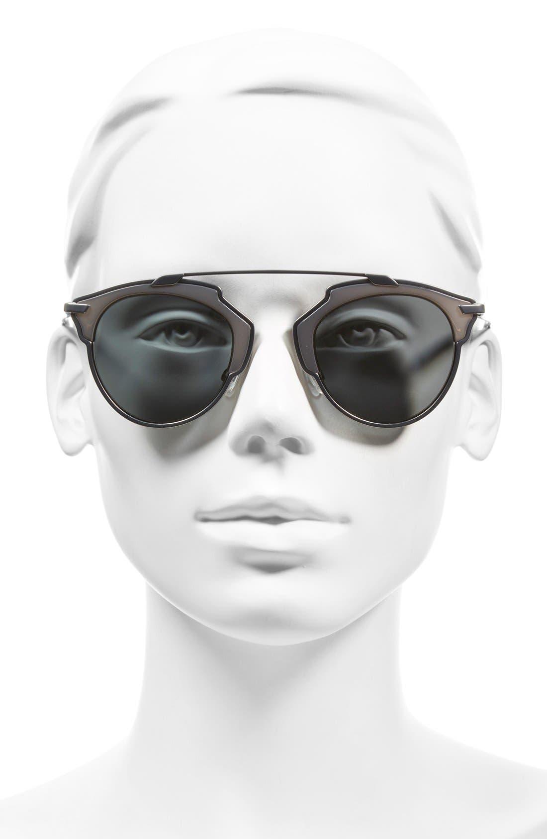 ,                             So Real 48mm Brow Bar Sunglasses,                             Alternate thumbnail 40, color,                             046