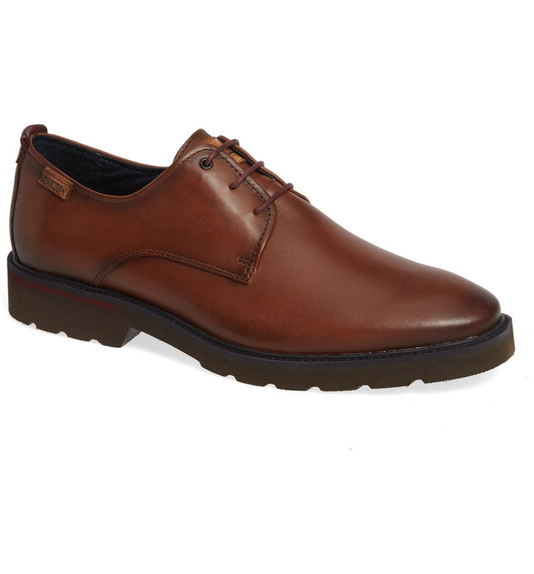 PIKOLINOS Salou Plain Toe Derby, Main, color, CUERO GARNET