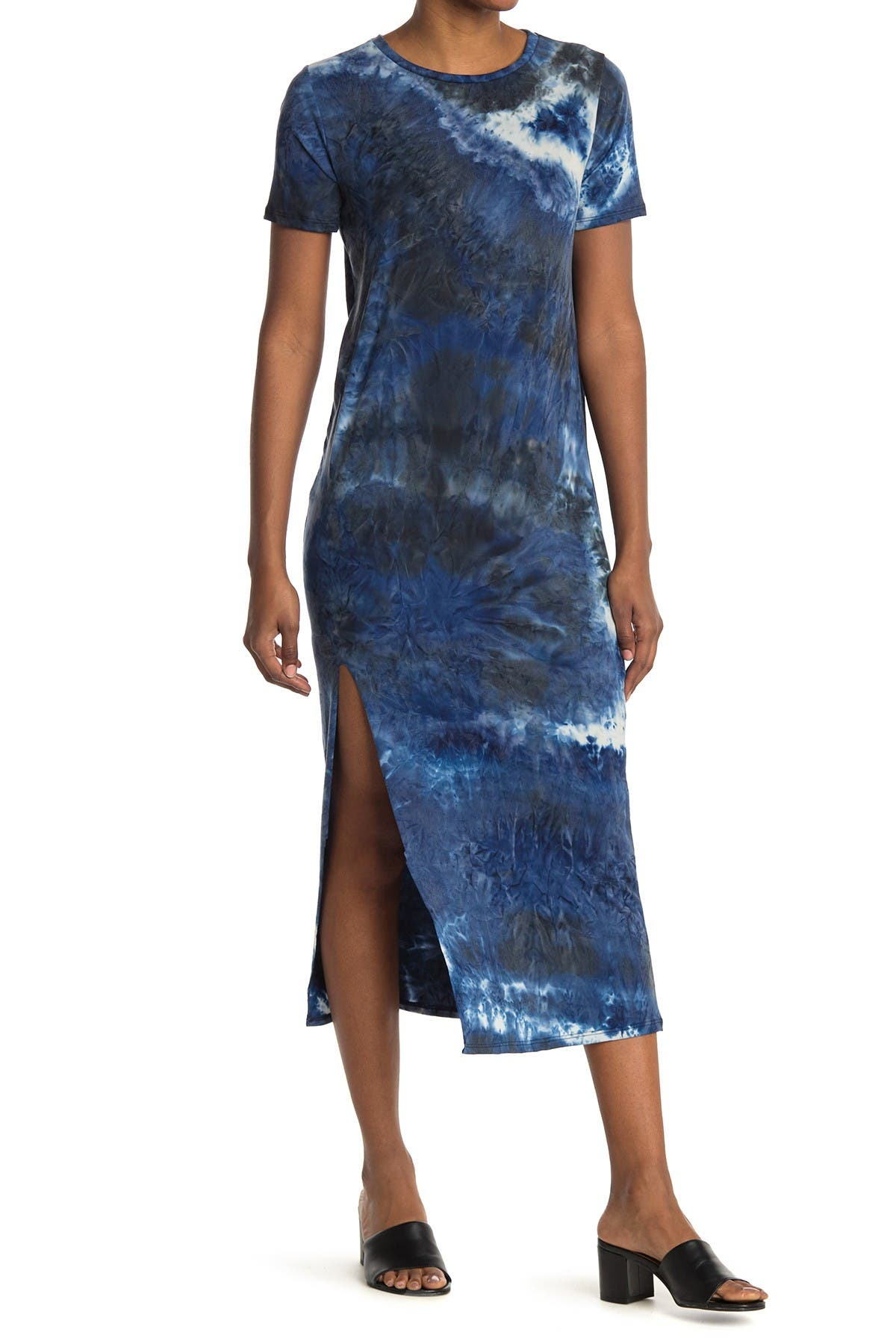 Image of Velvet Torch Tie Dye T-Shirt Maxi Dress