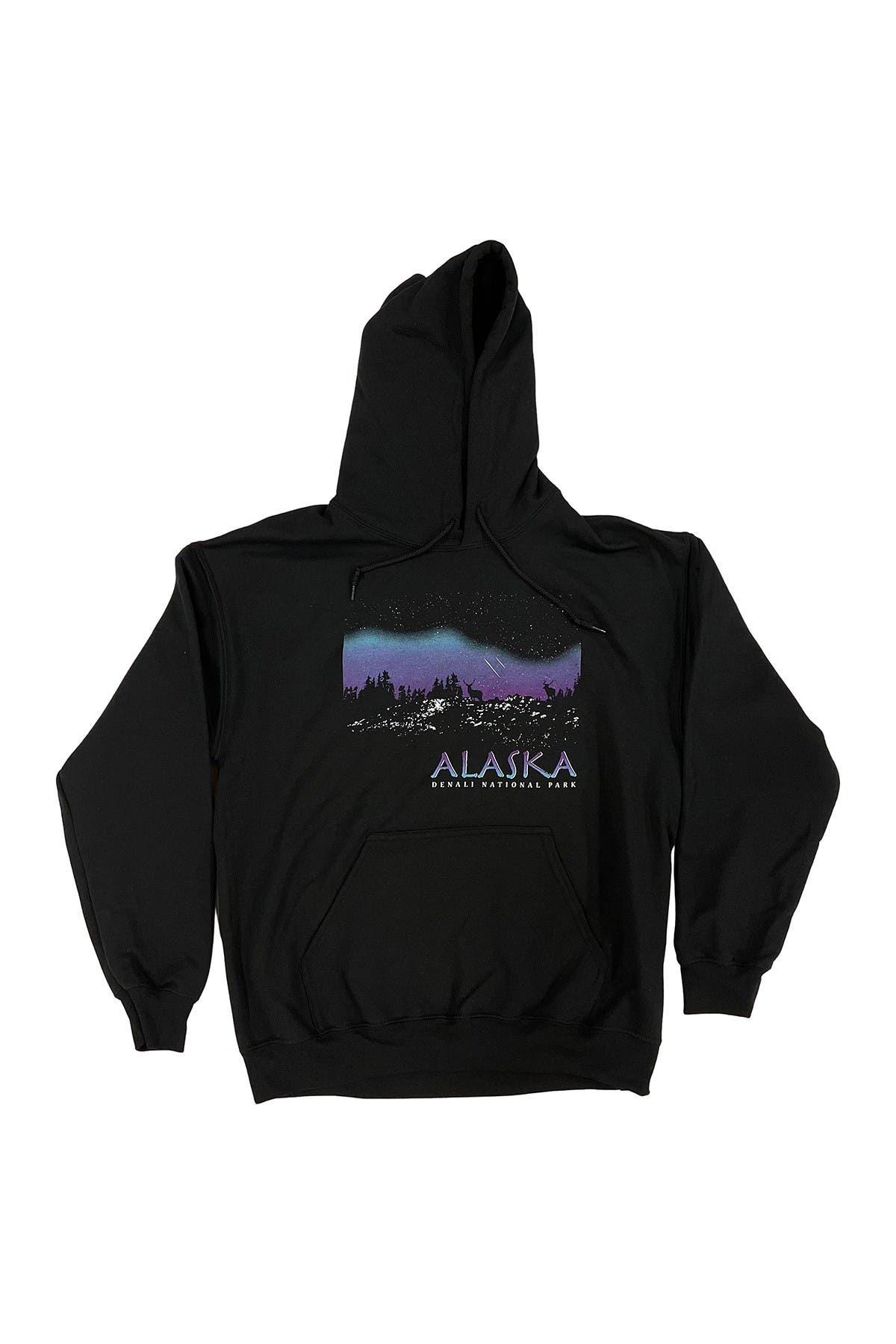 Image of Body Rags Denali National Park Alaska Night Sky Pullover Hoodie