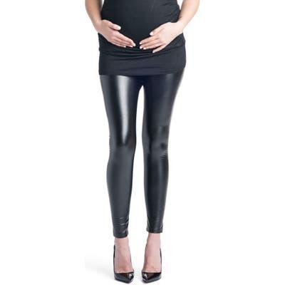 Preggo Leggings Rock Star Mamacita Maternity Leggings, Black